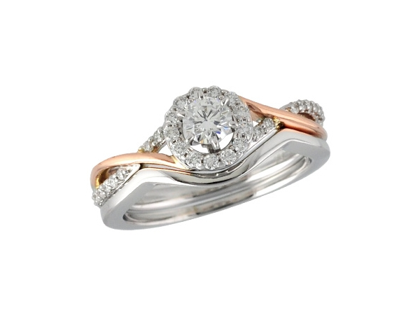 14KT Gold Two-Piece Wedding Set - SEMI SET FOR S8159 .24 TW