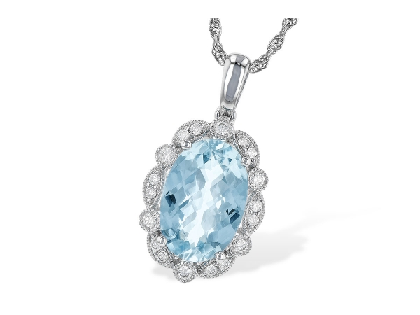 14KT Gold Necklace - NECK 2.40 AQUAMARINE 2.57 TGW