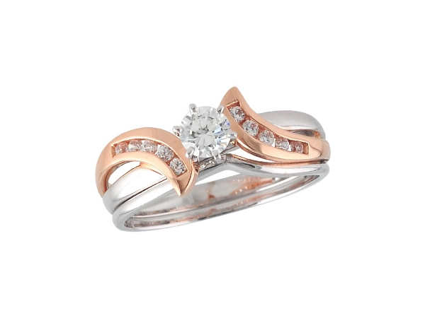14KT Gold Two-Piece Wedding Set - SET .31 BR .45 TW