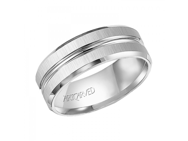 Tucker - Men's tungsten carbide wedding band