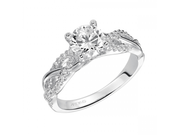 Virginia - Diamond engagement ring with twisted diamond band.