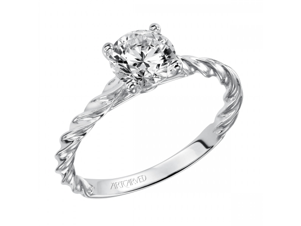 Joanna - Solitaire engagement ring featuring our delicate rope design.