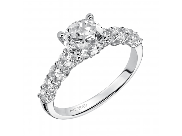Ring - Classic Prong set diamond engagement ring.