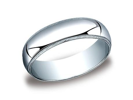 White Gold Ring - 360WG - White Gold, 6mm, Available: gold, plat