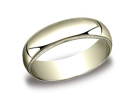 Yellow Gold Ring - 360YG - Yellow Gold, 6mm, Available: gold, plat