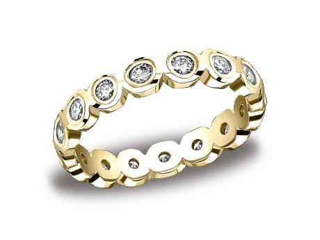 Yellow Gold Ring - 514129YG - Yellow Gold, 4mm, .96ct, Available: gold