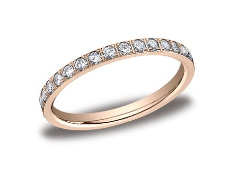 Rose Gold Ring - 522721RG - Rose Gold, 2mm, .66ct, Available: gold