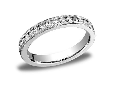 White Gold Ring - 533550WG - White Gold, 3mm, .66ct, Available: gold, plat