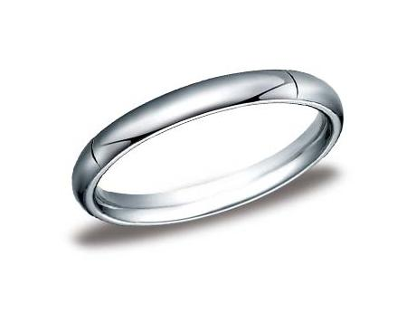 White Gold Ring - CF130WG - White Gold, 3mm, Available: gold