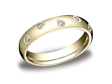 Yellow Gold Ring - CF514131YG - Yellow Gold, 4mm, .24ct, Available: gold, palladium, plat