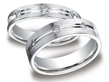 White Gold Ring - CF524128WG_set - White Gold, 4mm,6mm, .32ct, Available: gold, palladium, plat