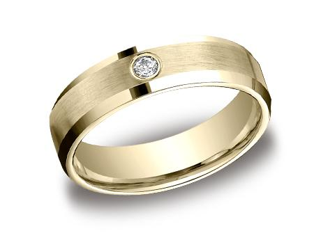 Yellow Gold Ring - CF526127YG - Yellow Gold, 6mm, .08ct, Available: gold, palladium, plat