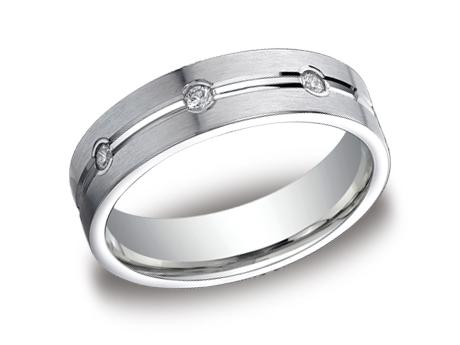 White Gold Ring - CF526128WG - White Gold, 6mm, .32ct, Available: gold, palladium, plat