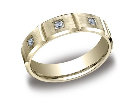 Yellow Gold Ring - CF526159YG - Yellow Gold, 6mm, .32ct, Available: gold, palladium, plat