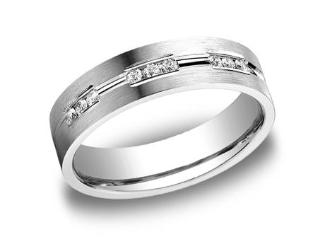 White Gold Ring - CF526533WG - White Gold, 6mm, .36ct, Available: gold, palladium, plat