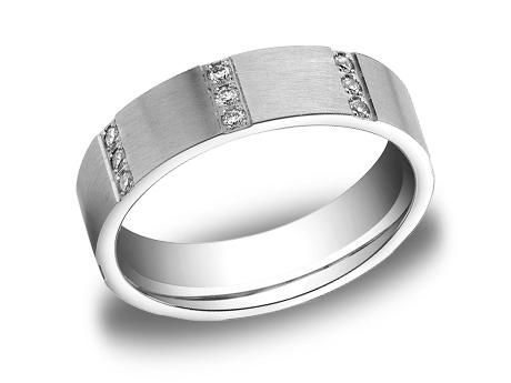 White Gold Ring - CF526713WG - White Gold, 6mm, .32ct, Available: gold