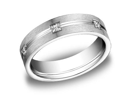 White Gold and Diamond Ring - White Gold, 6mm, .60ct, Available: gold