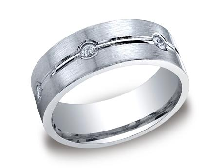 White Gold Ring - CF528128WG - White Gold, 8mm, .48ct, Available: gold, palladium, plat