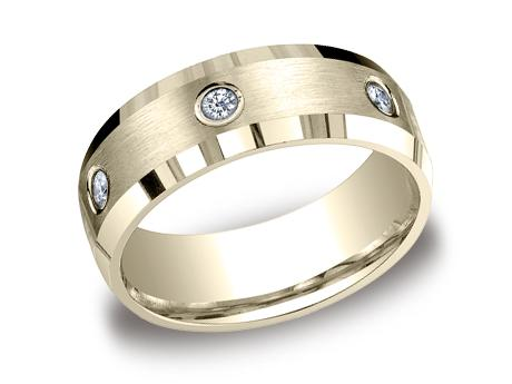 Yellow Gold Ring - CF528132YG - Yellow Gold, 8mm, .48ct, Available: gold, palladium, plat