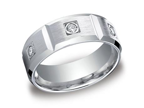 White Gold Ring - CF528159WG - White Gold, 8mm, .48ct, Available: gold, palladium, plat, cobalt