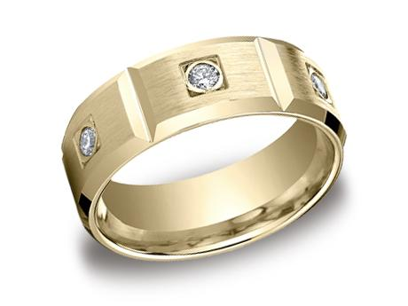 Yellow Gold Ring - CF528159YG - Yellow Gold, 8mm, .48ct, Available: gold, palladium, plat, cobalt