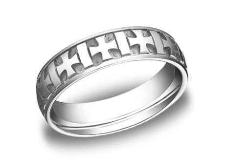 White Gold Ring - CF56401WG - White Gold, 6mm, Available: gold, argentium