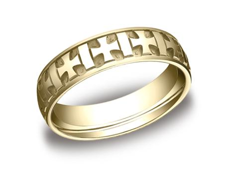 Yellow Gold Ring - CF56401YG - Yellow Gold, 6mm, Available: gold, argentium