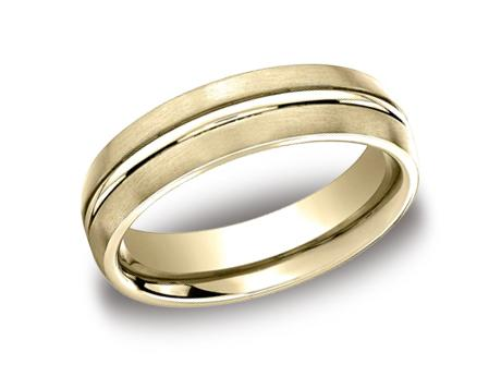 Yellow Gold Ring - CF56411YG - Yellow Gold, 6mm, Available: gold, plat, palladium, ceramic, titanium, tungsten, cobalt