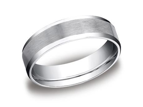 White Gold Ring - CF66416WG - White Gold, 6mm, Available: gold, plat, palladium, cobalt, titanium, argentium, tungsten, gold & argentium