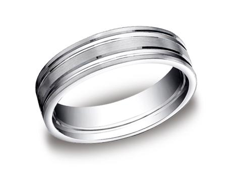 Platinum Ring - CF66423PT - Platinum, 6mm, Available: gold, palladium, plat