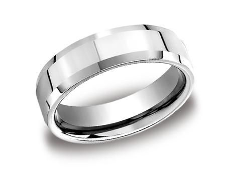 Platinum Ring - CF66426PT - Platinum, 6mm, Available: gold, plat, palladium, cobalt, ceramic, tungsten