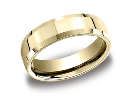 Yellow Gold Ring - CF66426YG - Yellow Gold, 6mm, Available: gold, plat, palladium, cobalt, ceramic, tungsten