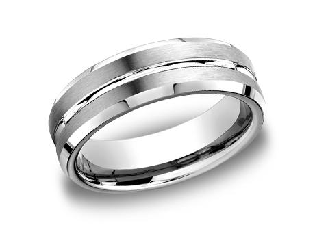 White Gold Ring - CF66439WG - White Gold, 6mm, Available: gold, palladium, plat, cobalt, tungsten