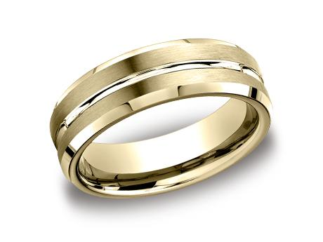 Yellow Gold Ring - CF66439YG - Yellow Gold, 6mm, Available: gold, palladium, plat, cobalt, tungsten