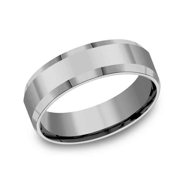 Tungsten Ring - Tungsten, 7mm, Available: gold, plat, palladium, cobalt, ceramic, tungsten