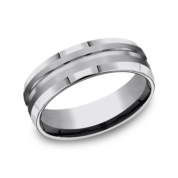Tungsten Ring - Tungsten, 7mm, Available: gold, palladium, plat, cobalt, tungsten