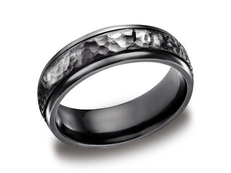 Black Titanium Ring - CF67502BKT - Black Titanium, 7mm, Available: gold, titanium, cobalt