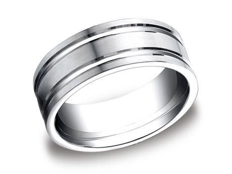 Platinum Ring - CF68423PT - Platinum, 8mm, Available: gold, palladium, plat, titanium, argentium
