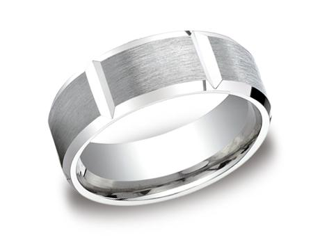 Platinum Ring - CF68449PT - Platinum, 8mm, Available: gold, palladium, plat, cobalt