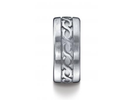 BENCHMARK Argentium Silver Wedding Ring - Argentium Silver 10mm Comfort-Fit Celtic Knot Design Band