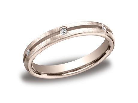 Rose Gold Ring - CF713500RG - Rose Gold, 3.5mm, .12ct, Available: gold