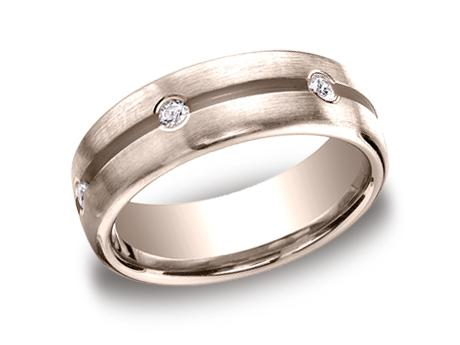 Rose Gold Ring - CF717500RG - Rose Gold, 7.5mm, .36ct, Available: gold