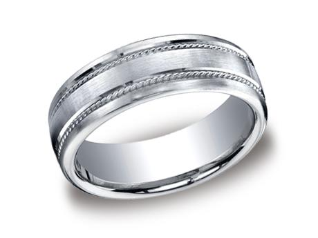 White Gold Ring - CF717504WG - White Gold, 7.5mm, Available: gold, plat, palladium