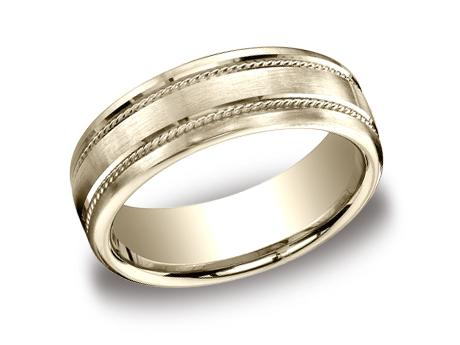Yellow Gold Ring - CF717504YG - Yellow Gold, 7.5mm, Available: gold, plat, palladium