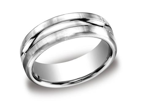 Platinum Ring - CF717505PT - Platinum, 7.5mm, Available: gold, palladium, plat, black titanium