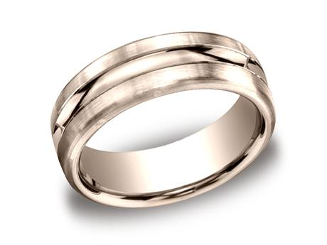 Rose Gold Ring - CF717505RG - Rose Gold, 7.5mm, Available: gold, palladium, plat, black titanium