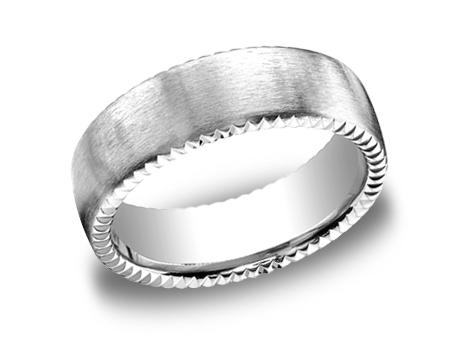 White Gold Ring - CF717525WG - White Gold, 7.5mm, Available: gold