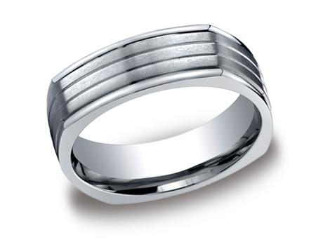 Titanium Ring - CF77334TI - Titanium, 7mm, Available: gold, titanium