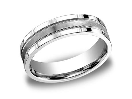 White Gold Ring - CFSE7601SWG - White Gold, 6mm, Available: gold