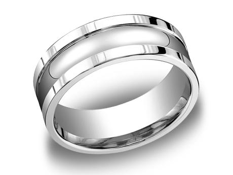 White Gold Ring - CFSE78200WG - White Gold, 8mm, Available: gold